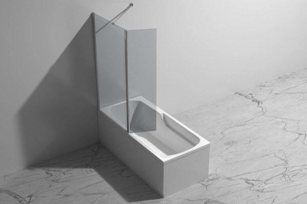 Badekarvegg med ledd fra Interform. dusjvegg