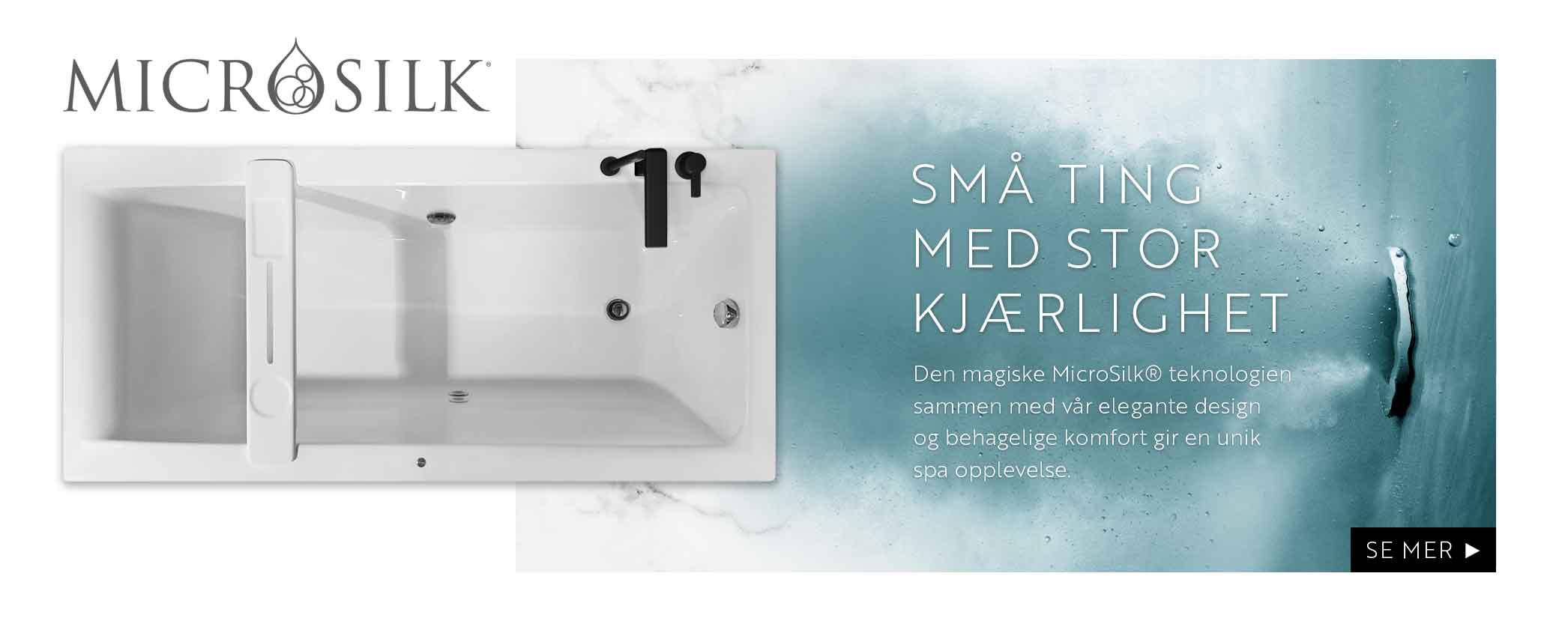 Interform er eneleverandør i Norge! Vi tilbyr montering av MicroSilk® på de fleste av våre akrylkar. Denne teknologien sammen med vår elegante design og behagelige komfort gir en unik spa opplevelse. bobler, spa og velvære