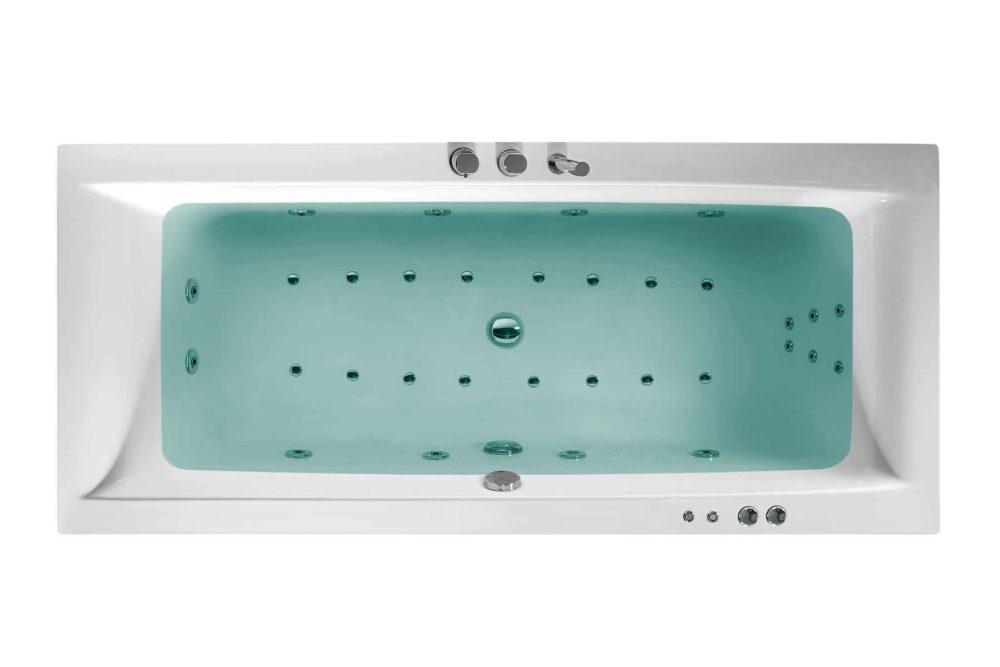 Nemo 180 badekar med massasje / boblebad fra Interform sett ovenfra