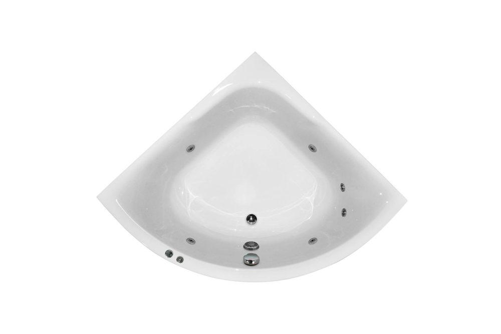 Njord badekar fra Interform. Et lite hjørnekar som rommer mer en man tror.